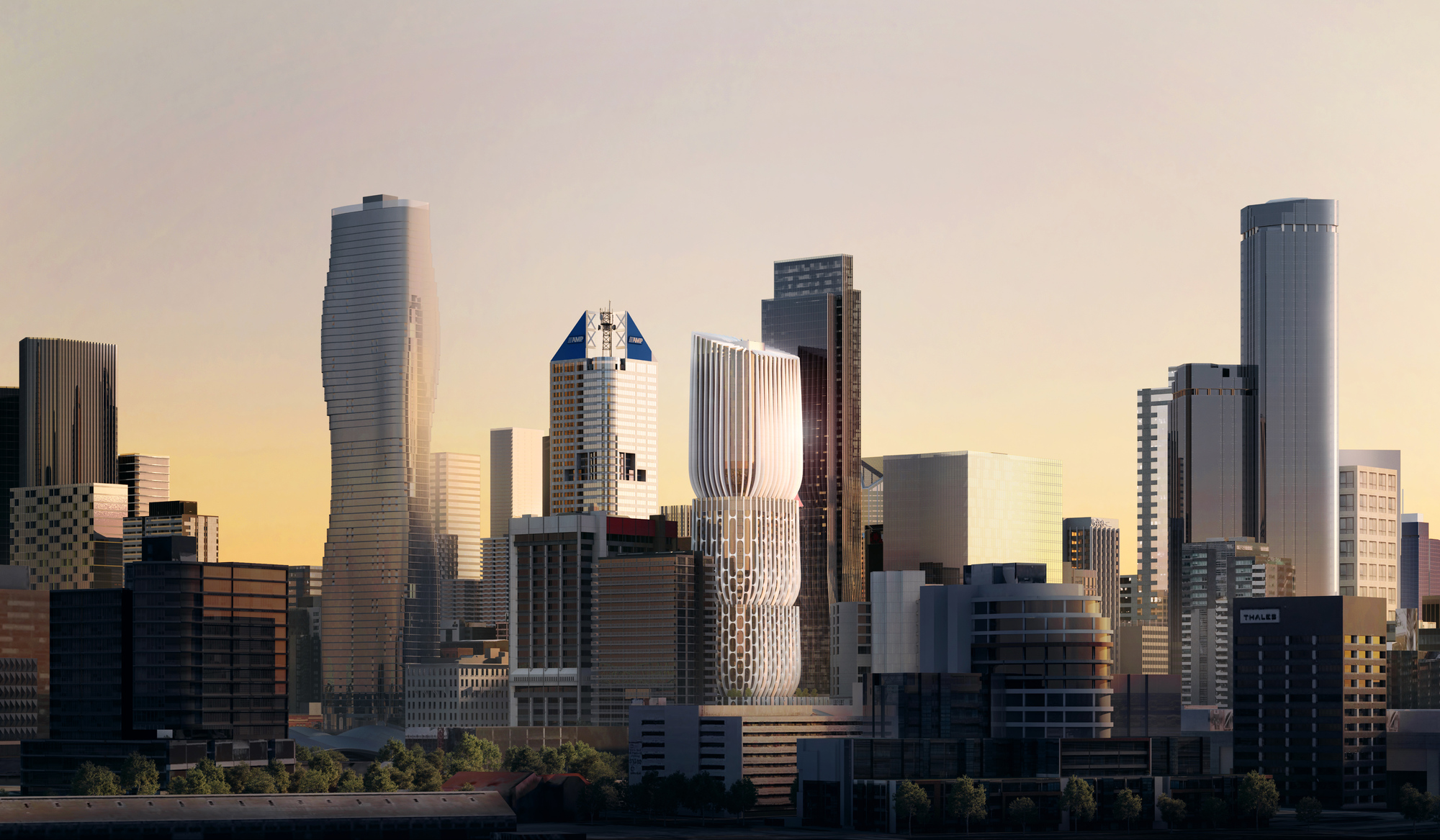 Gallery Of Zaha Hadid Architects Releases New Images Animation Of Quot Stacked Vase Quot Tower For