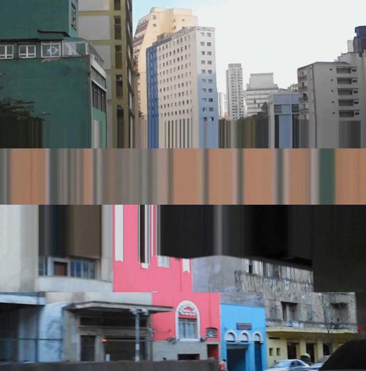 """Exposição """"Cinema Lascado"""" reúne obras de Giselle Beiguelman na Caixa Cultural São Paulo, Cinema Lascado - Minhocão. Image Cortesia de Giselle Beiguelman"""