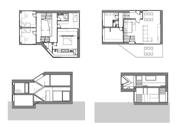 Mezzanine house elastik architecture hikikomori for Mezzanine floor plan