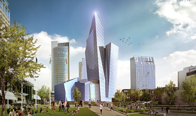 Studio Libeskind's Faceted Tower Wins Competition for Mixed-Use Complex in Lithuania, Courtesy of Studio Libeskind