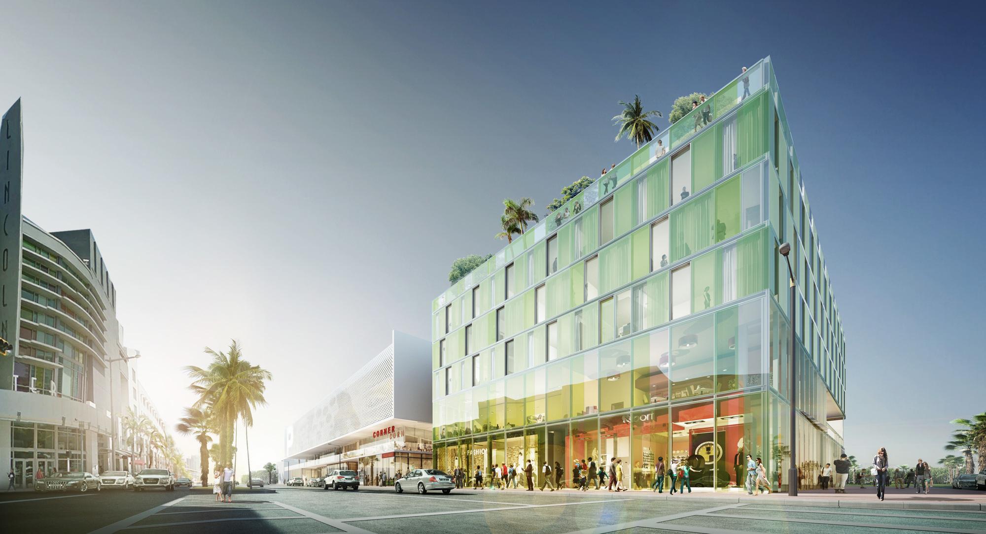 perkins+will designs miami beach 'glass prism' | archdaily