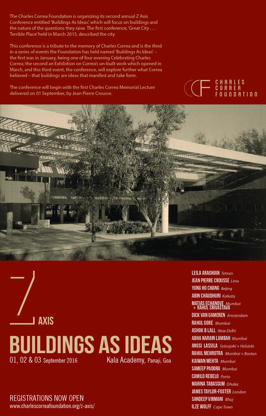 "Z-Axis International Conference to Explore ""Buildings as Ideas"", Z Axis Poster"