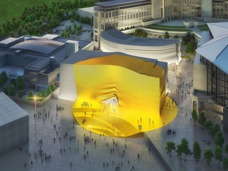 "MVRDV's ""Golden Spot"" Brightens Up Design for Seoul Entertainment Complex , © MVRDV"