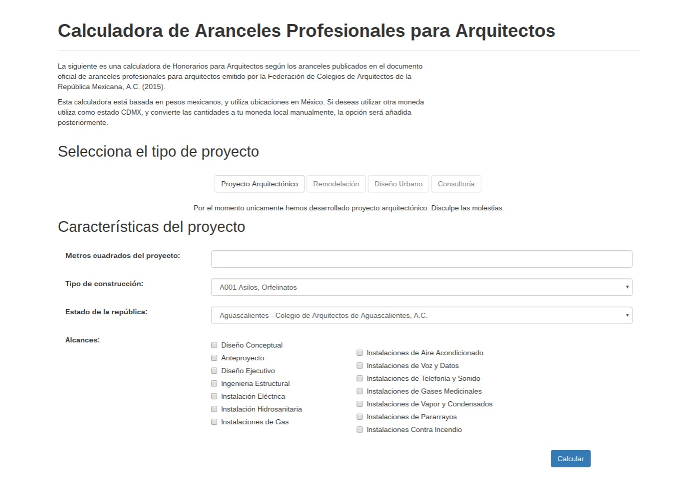 Galer a de este sitio web te ayudar a calcular tus for Honorarios arquitecto
