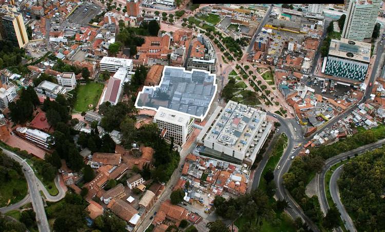Konrad Brunner y Cristián Undurraga diseñarán centro cívico universitario en Bogotá, Emplazamiento del futuro centro cívico de Universidad Los Andes. Image vía Gerencia del Campus Universidad de los Andes / Difusión