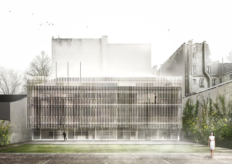 Tomas Ghisellini Architects Propose Shimmering Extension to the Italian Institute of Culture in Paris, Courtesy of Tomas Ghisellini Architects