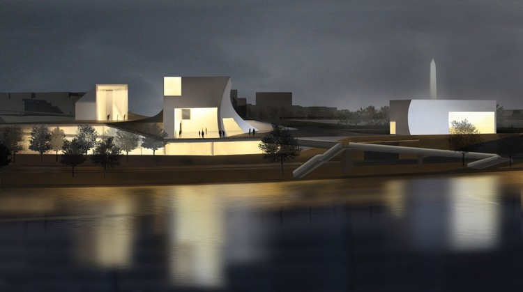 Steven Holl Receives Approval for Kennedy Center Pedestrian Bridge , Courtesy of Steven Holl Architects