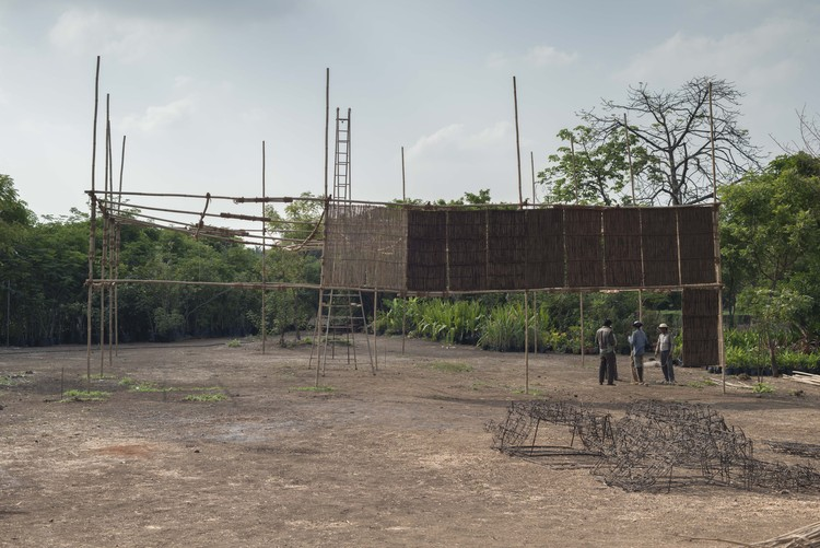 Bijoy Jain projeta a maior estrutura de bambu da Austrália para o MPavilion 2016, © Nicholas Watt