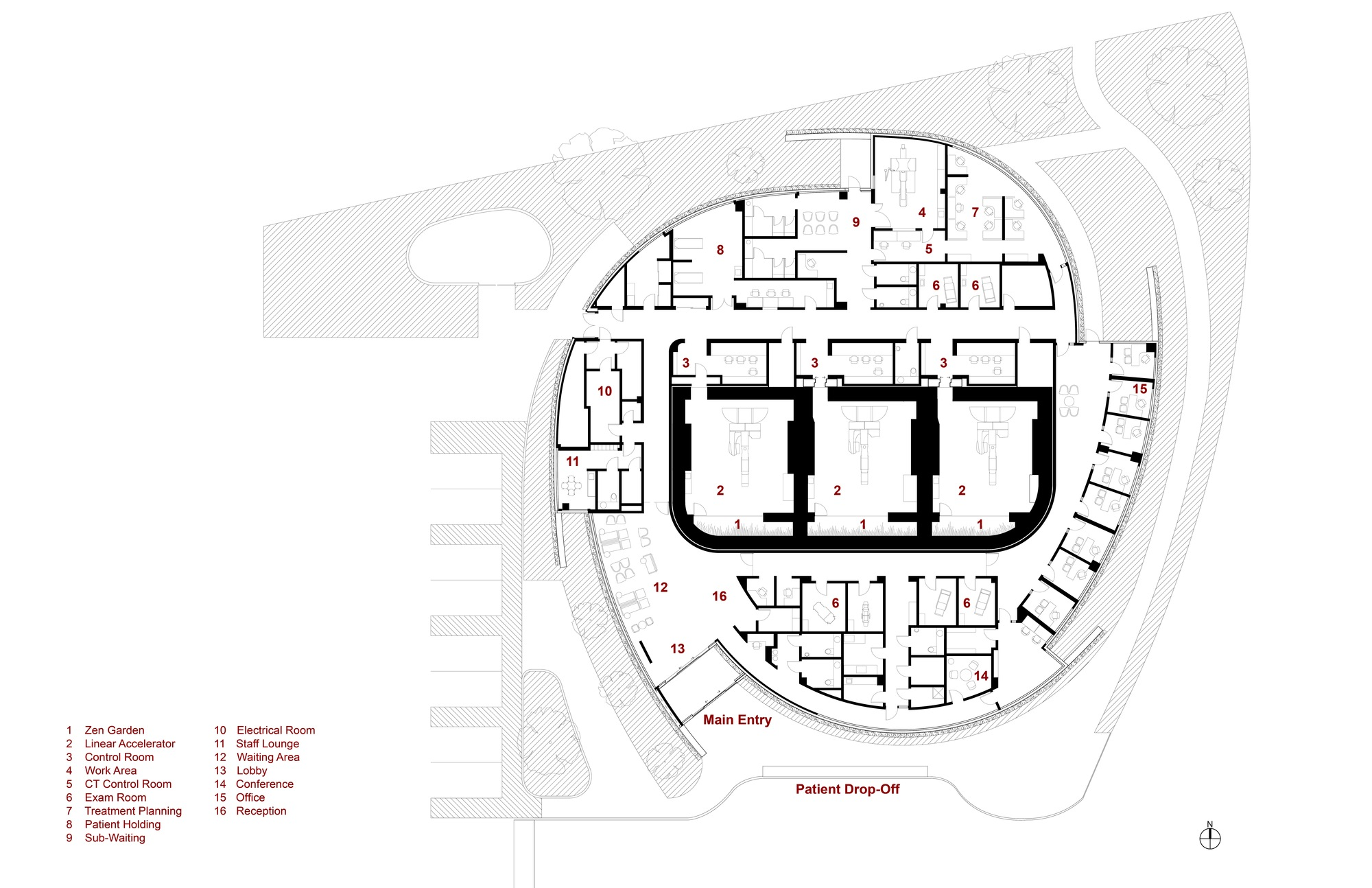 Curved Building Plan
