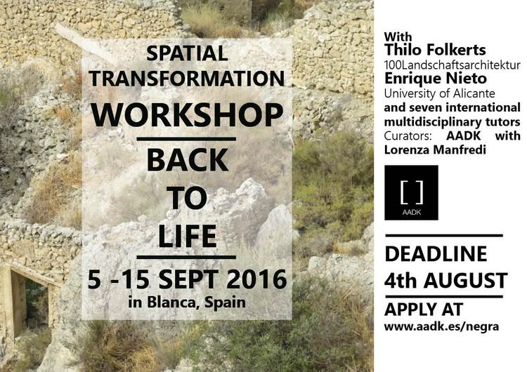 International Workshop 'Back to Life' / Murcia