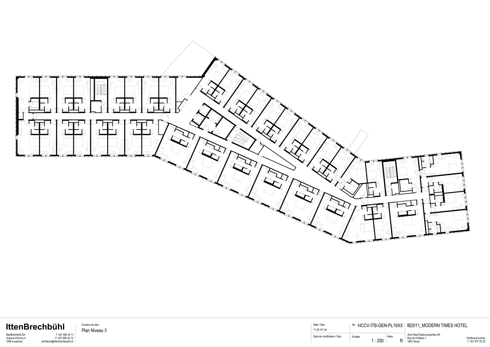 Gallery of modern times hotel itten brechb hl 29 for Modern layout house plan