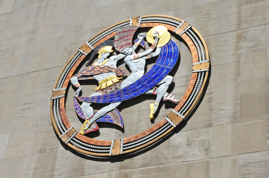 "The Dancers' Medallion on the exterior of the Hall. Used under <a href='https://creativecommons.org/licenses/by-sa/2.0/'>Creative Commons</a>. ImageCourtesy of Flickr user Heather Paul"" title= ""The Dancers' Medallion on the exterior of the Hall. Utilized under <a href='https://creativecommons.org/licenses/by-sa/2.0/'>Creative Commons</a>. ImageCourtesy of Flickr user Heather Paul"" /></p> <p></a></p> <p> The Dancers' Medallion on the exterior of the Hall. Utilized under <a href='https://creativecommons.org/licenses/by-sa/2.0/'>Creative Commons</a>. ImageCourtesy of Flickr user Heather Paul</p> <p><p>Although the Grand Foyer is stunning in itself, the auditorium is naturally the centerpiece of the <a href="