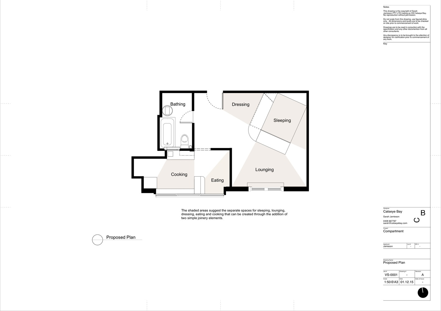 Gallery of Small and Sculpted Studio Apartment / Catseye Bay ...