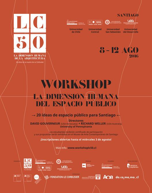Inscripciones abiertas para el Workshop 'LC 50, la dimensión humana del espacio público' Santiago, crisnubont