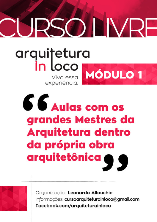 """Inscrições abertas para o curso """"Arquitetura in loco"""""""