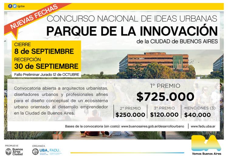 Concurso Nacional de Ideas Urbanas Parque de la Innovación / Buenos Aires, Ministerio de Desarrollo Urbano y Transporte, Gobierno de la Ciudad Autónoma de Buenos Aires.