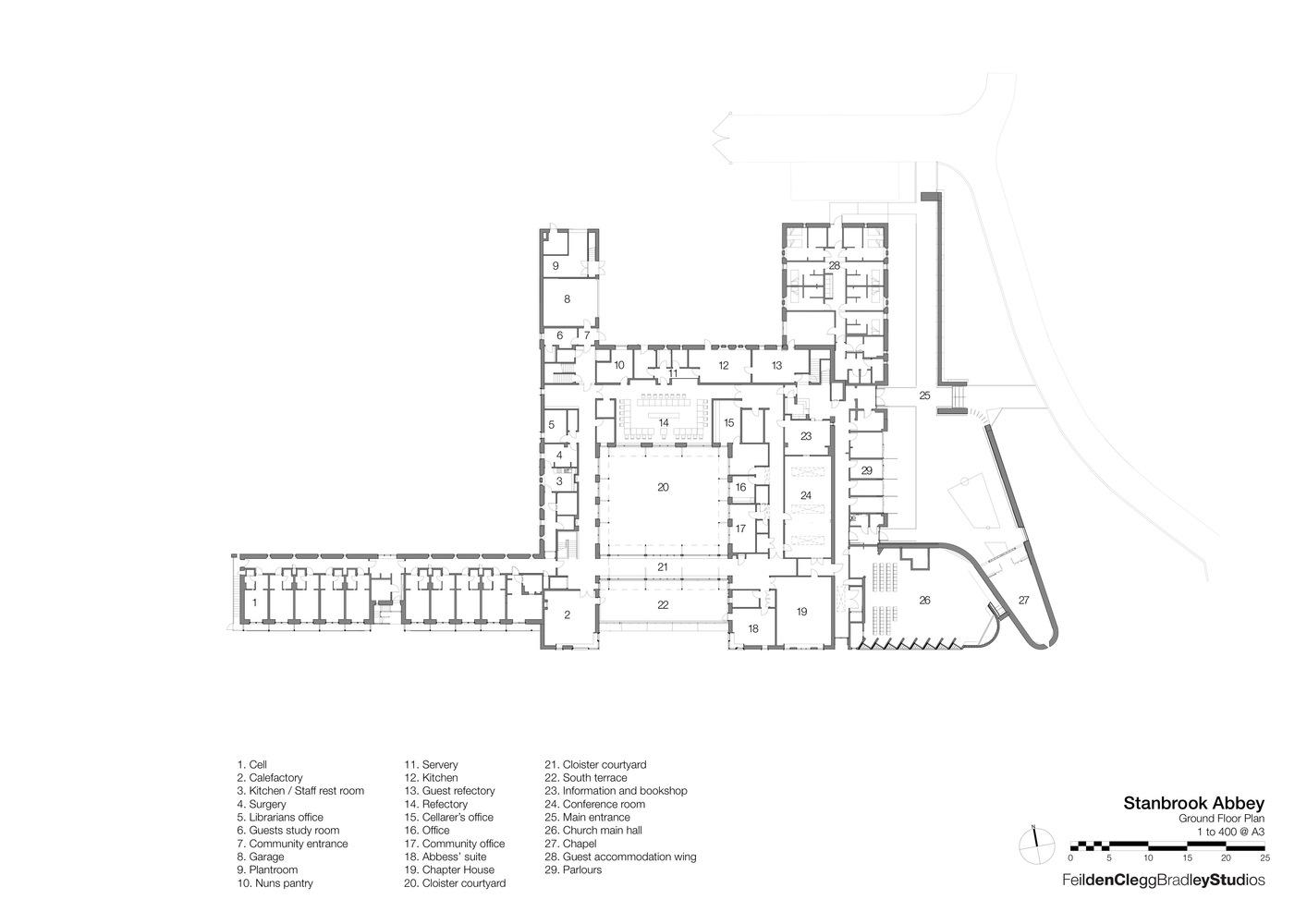 gallery of stanbrook abbey feilden clegg bradley studios 42