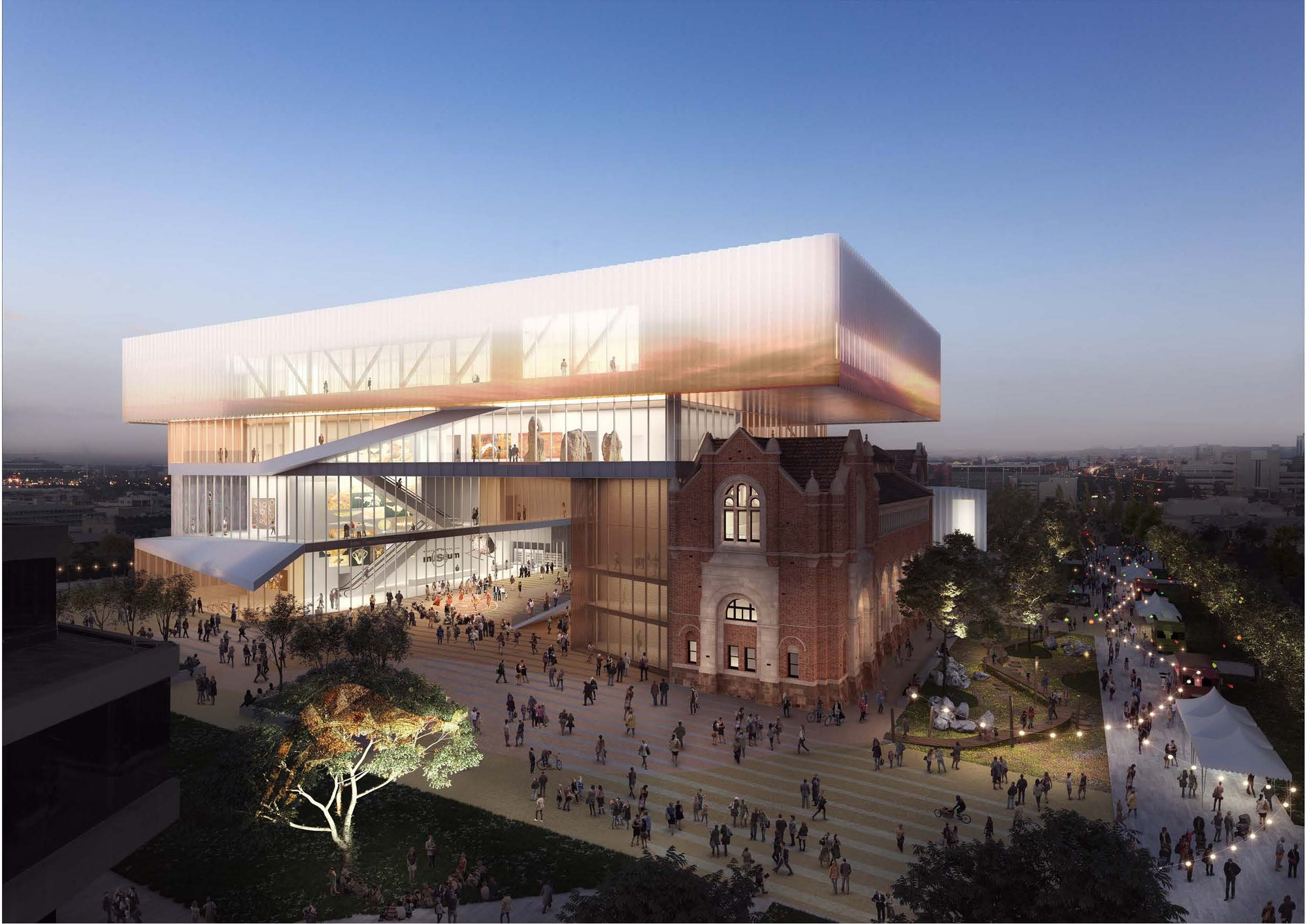 hassell oma reveal design for new museum for western australia