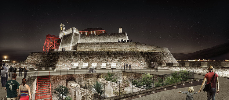Colectivo720 + De Arquitectura y Paisaje diseñarán iluminación del castillo San Felipe de Barajas en Cartagena, © Colectivo 720