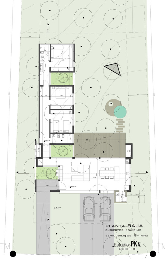 Casa l estudio pka plataforma arquitectura for Ejes arquitectonicos