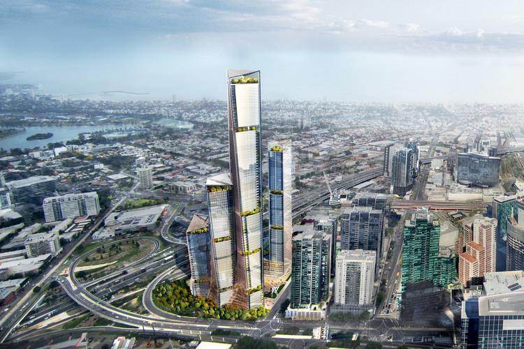 "Benoy Releases Proposal for ""Family of Towers"" in Melbourne, Australia , Courtesy of Benoy"