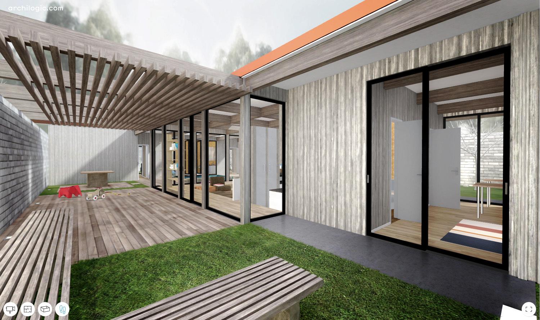 galeria de um passeio virtual pela case study house 24 de a quincy jones e frederick emmons 5. Black Bedroom Furniture Sets. Home Design Ideas