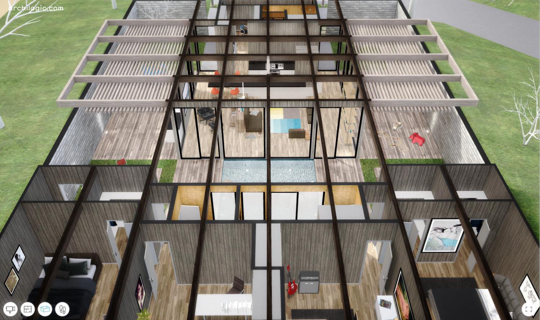 galeria de um passeio virtual pela case study house 24 de a quincy jones e frederick emmons 7. Black Bedroom Furniture Sets. Home Design Ideas