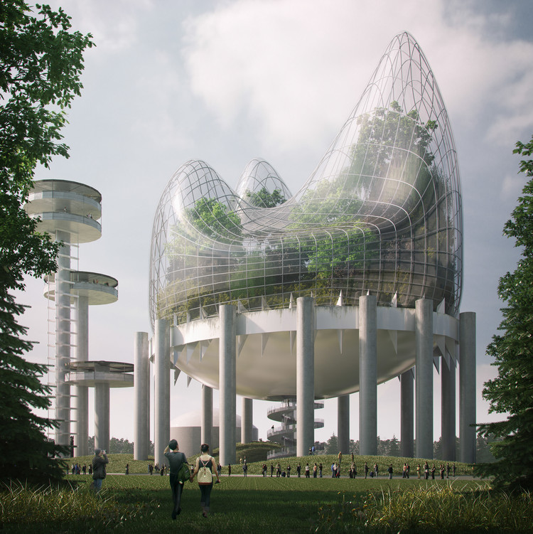Architecture Ideas Part - 45: Winners Announced In Ideas Competition To Reimagine New York State Pavilion  In Queens, Courtesy Of