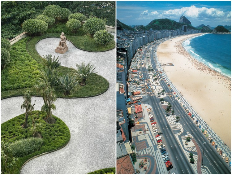 Roberto Burle Marx: un maestro más allá del paisaje moderno, © Cesar Barreto (left); Burle Marx & Cia. Ltda., Rio de Janeiro. Reproduced with permission. All rights reserved (right)