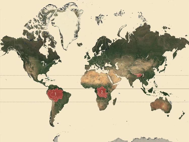 Fricciones Culturales: hacia una transferencia de las arquitecturas tradicionales a la producción contemporánea, Cuencas del Amazonas, el Congo y Brahmaputra. Image Cortesía de Samuel Bravo Silva