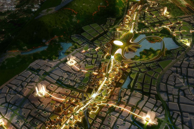 China Envisions a Futuristic Carbon Neutral City With a Technologically Innovative Highway, Courtesy of Avoid Other Architects + TETRA Architects and Planners