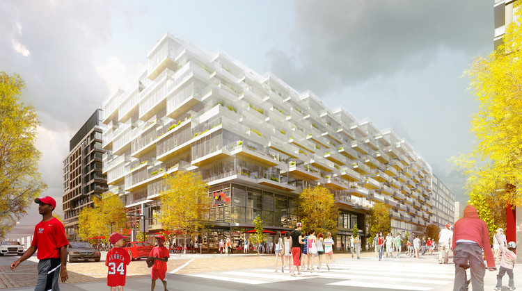 ODA Designs D.C. Development With Views into Nationals Park, © Luxigon
