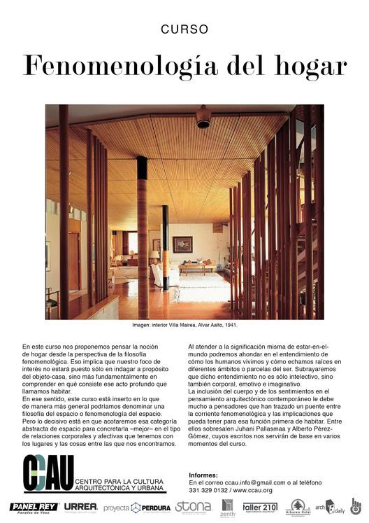 Curso CCAU Fenomenología del hogar / Guadalajara, CCAU