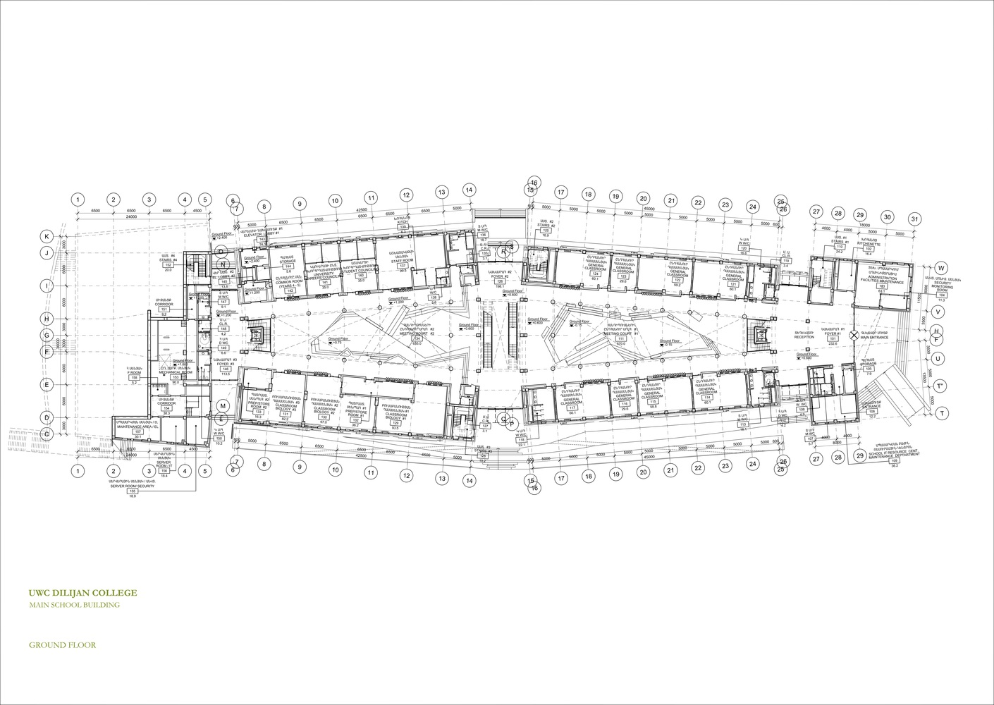 Gallery Of Uwc Dilijan College Tim Flynn Architects 22 Ford 7 3 Glow Plug Wiring Diagram Collegeground Floor Plan