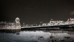 Este es el diseño de Colectivo720 + De Arquitectura y Paisaje que iluminará castillo en Cartagena