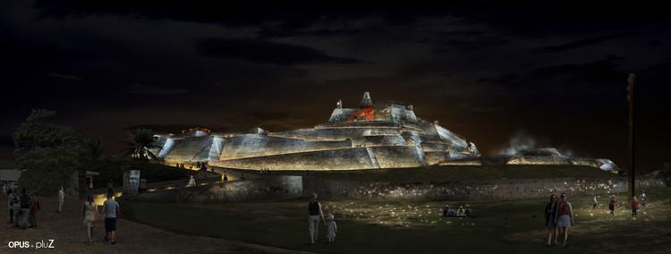OPUS + PLUZ, mención honrosa en concurso de iluminación del castillo San Felipe de Barajas en Cartagena, Cortesía de OPUS + PLUZ