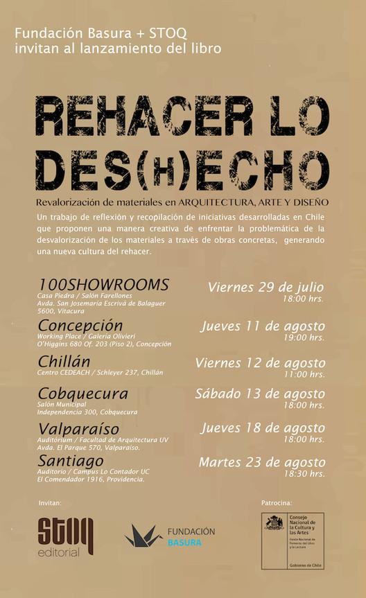 Presentación Libro REHACER LO DES(H)ECHO: Revalorización de Materiales en Arquitectura, Arte y Diseño / Concepción, Fundación Basura