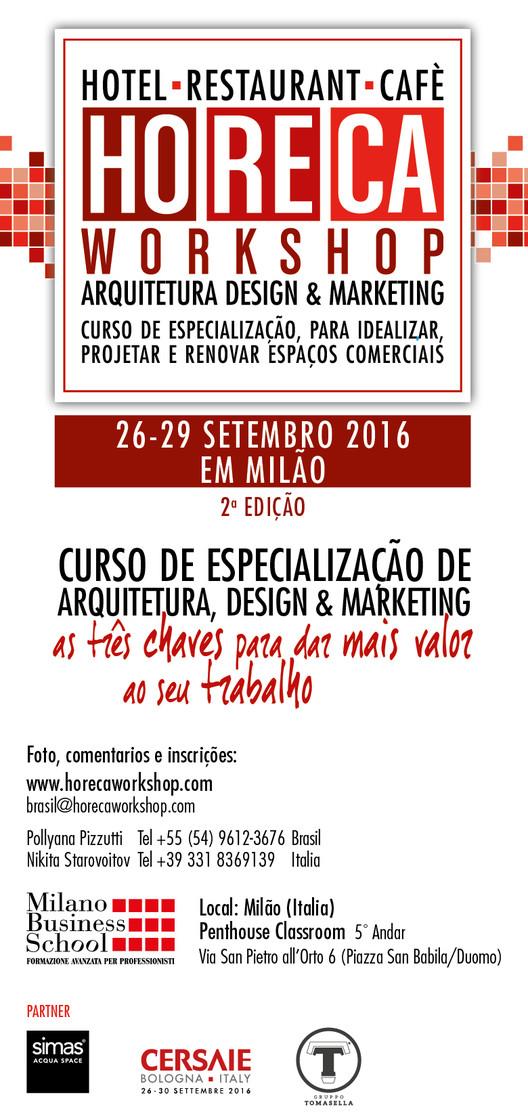 HORECA Workshop - Arquitetura, Design e Marketing - Itália