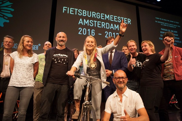 "Amsterdã elege a primeira ""Prefeita da Bicicleta"" do mundo, © CycleSpace"