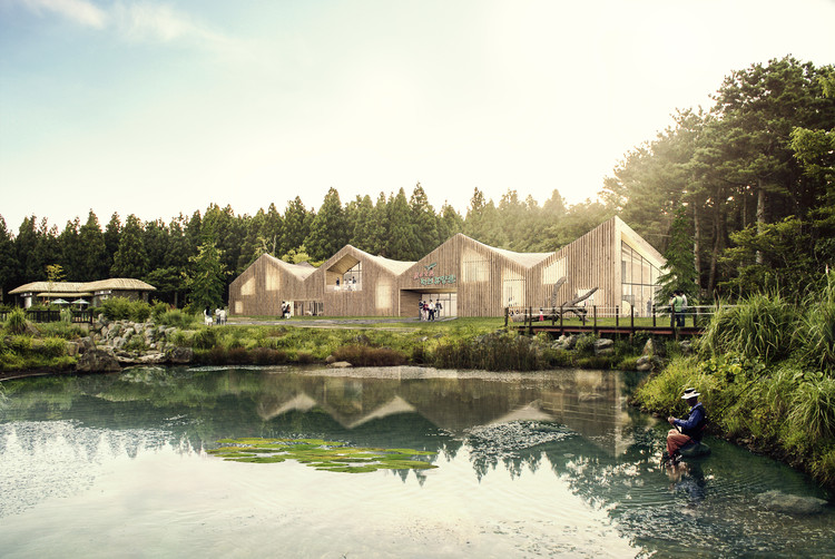 Urban Agency + Group-K Design Wood Experience Center on Jeju Island, South Korea, Courtesy of Urban Agency