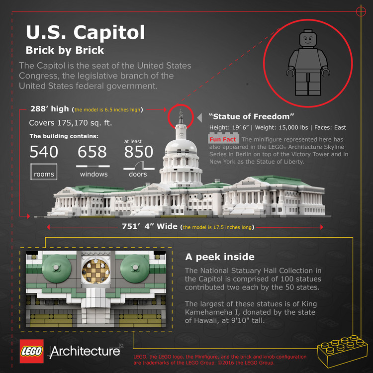 The Latest LEGO® Architecture Set: The U.S. Capitol Building | ArchDaily