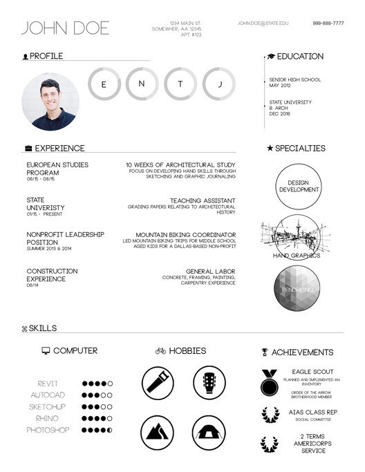 architectural resume sample