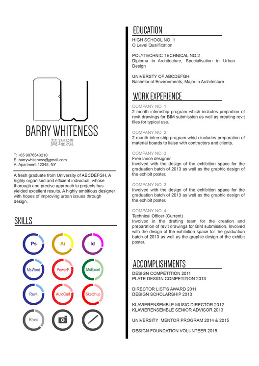 Architecture Design Resumes the top architecture résumé/cv designs | archdaily