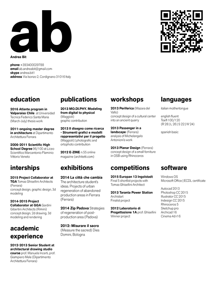 gallery of the top architecture résumé cv designs 2