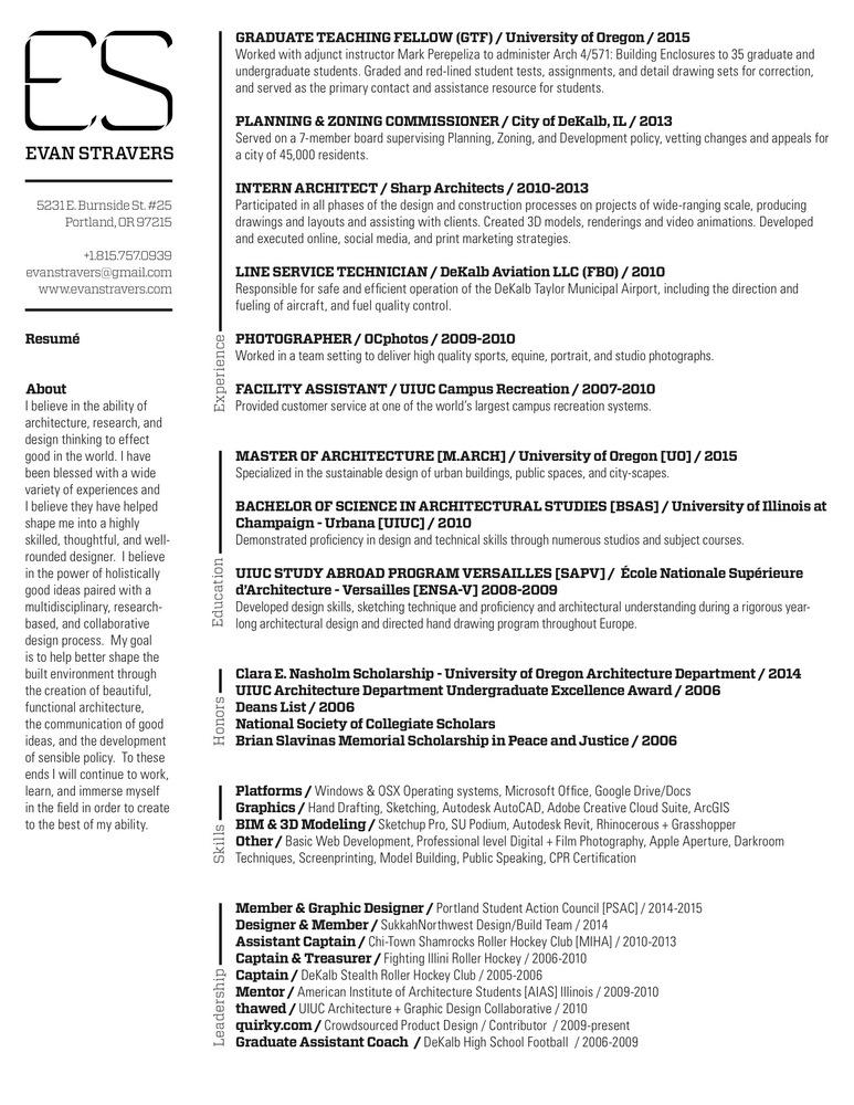 Gallery of The Top Architecture Résumé/CV Designs - 1