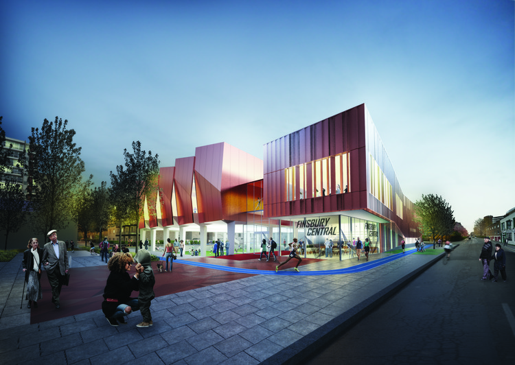 Pollard Thomas Edwards Architects' Sawtooth Design Wins Finsbury Leisure Centre Competition, Courtesy of RIBA Competitions