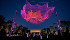 Janet Echelman's Railroad-Inspired Net Sculpture Premiers in North Carolina