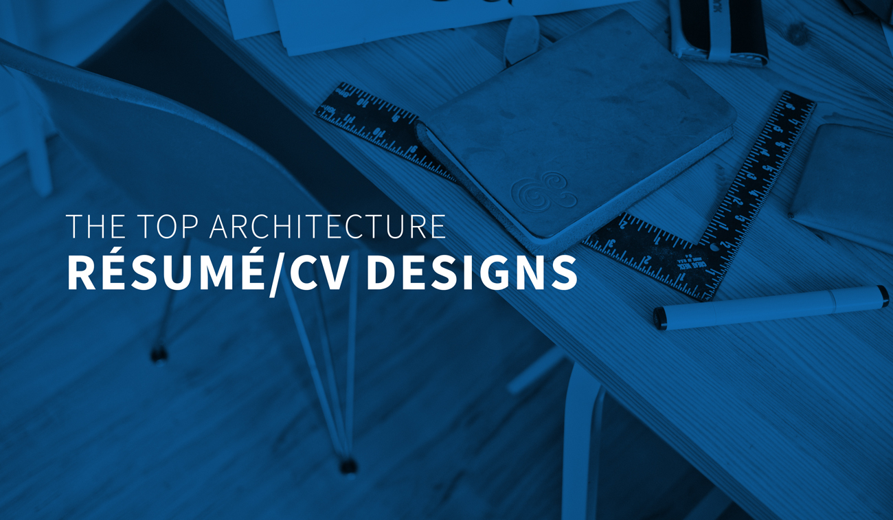 Gallery Of The Top Architecture Resume Cv Designs 1