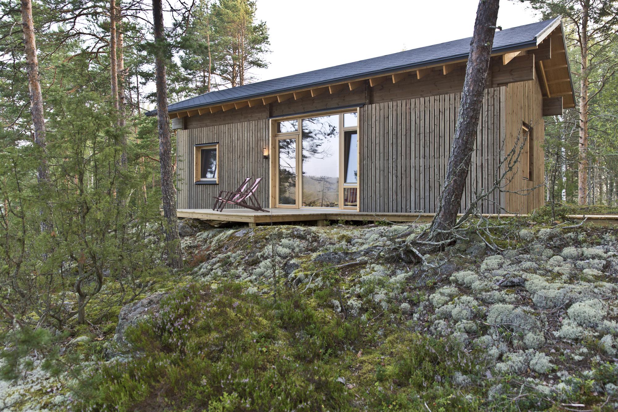 Gallery of cabin k studio kamppari 7 for Contemporary home builders wisconsin