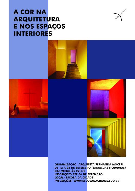 Escola da Cidade promove curso livre sobre aplicação de cores na arquitetura